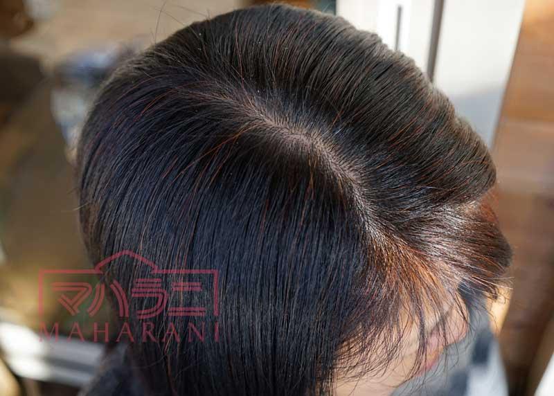 ヘナ100%のヘナカラー染まり方~白髪の出始め編