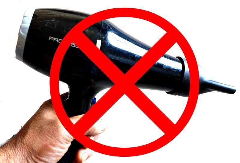 ヘナを乾かす際にヘアドライヤーは使用しない